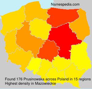 Surname Prusinowska in Poland
