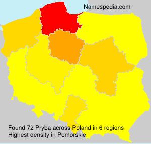 Surname Pryba in Poland