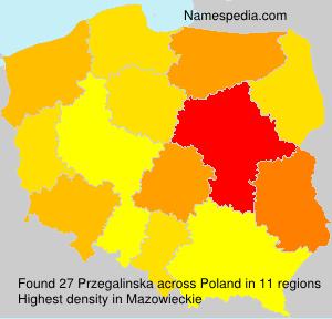 Familiennamen Przegalinska - Poland