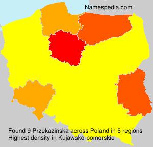 Surname Przekazinska in Poland