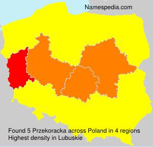 Familiennamen Przekoracka - Poland
