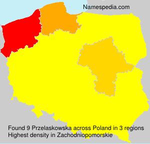 Surname Przelaskowska in Poland