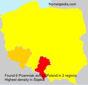 Surname Przenniak in Poland