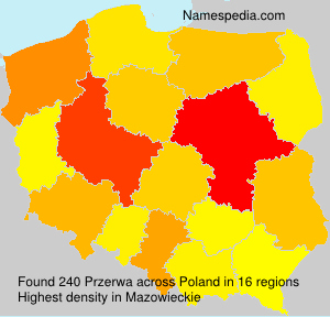 Surname Przerwa in Poland