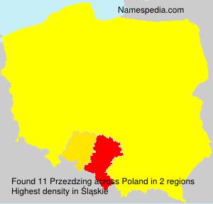 Surname Przezdzing in Poland