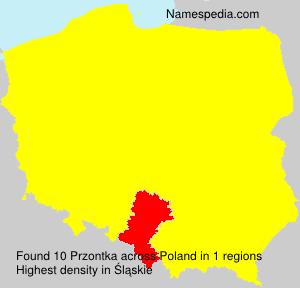 Surname Przontka in Poland