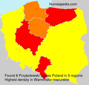 Surname Przybolewski in Poland