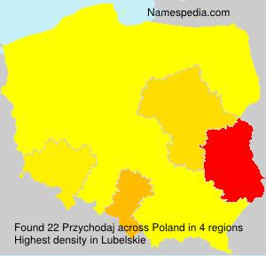 Familiennamen Przychodaj - Poland