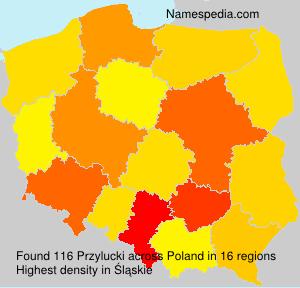 Surname Przylucki in Poland