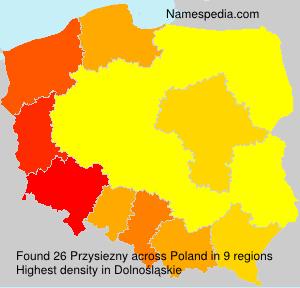 Surname Przysiezny in Poland