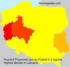 Surname Przyworski in Poland