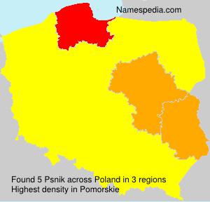 Surname Psnik in Poland