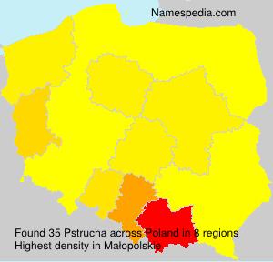 Surname Pstrucha in Poland
