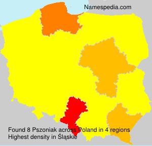Surname Pszoniak in Poland