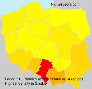 Familiennamen Pudelko - Poland