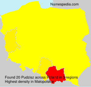 Surname Pudzisz in Poland