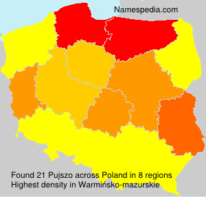 Surname Pujszo in Poland