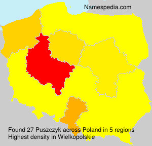 Surname Puszczyk in Poland