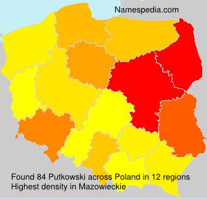 Surname Putkowski in Poland