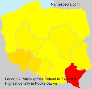 Surname Putylo in Poland