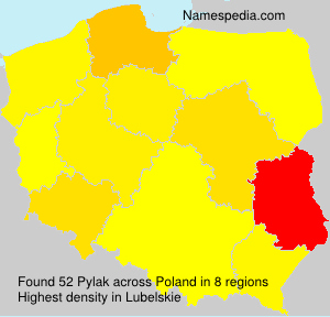 Surname Pylak in Poland