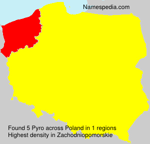 Surname Pyro in Poland