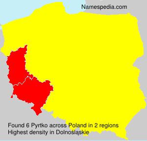 Surname Pyrtko in Poland