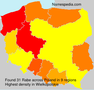 Surname Rabe in Poland