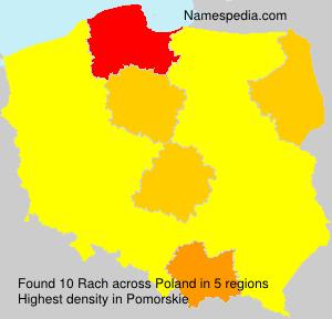 Familiennamen Rach - Poland