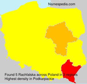 Familiennamen Rachfalska - Poland