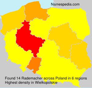 Surname Rademacher in Poland