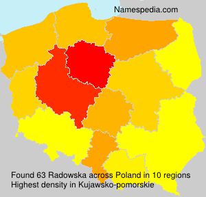 Surname Radowska in Poland