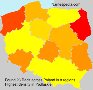 Surname Radz in Poland