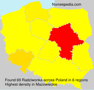 Surname Radziwonka in Poland