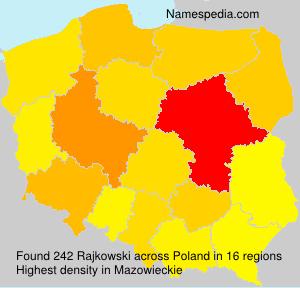 Surname Rajkowski in Poland