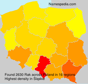 Surname Rak in Poland