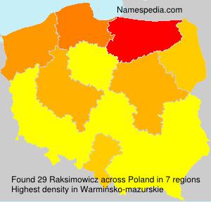 Surname Raksimowicz in Poland
