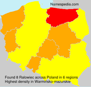 Surname Ralowiec in Poland