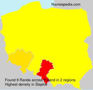 Surname Randa in Poland
