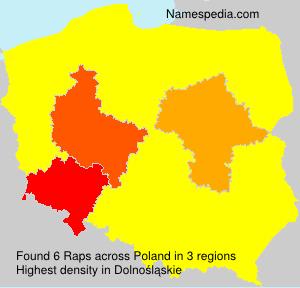 Surname Raps in Poland