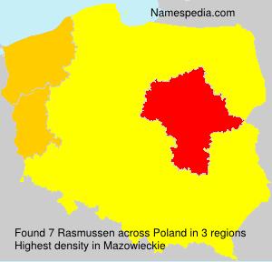 Surname Rasmussen in Poland