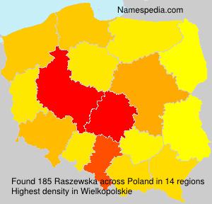 Surname Raszewska in Poland