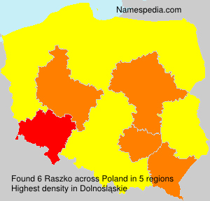 Surname Raszko in Poland