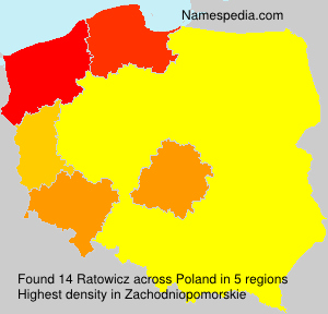 Surname Ratowicz in Poland