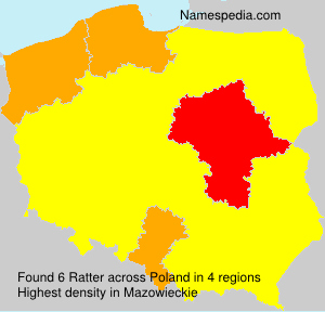 Familiennamen Ratter - Poland