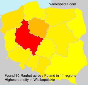 Familiennamen Rauhut - Poland
