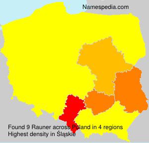 Surname Rauner in Poland