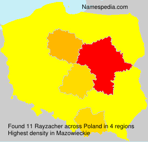 Surname Rayzacher in Poland