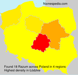 Surname Razum in Poland