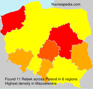 Surname Rebek in Poland